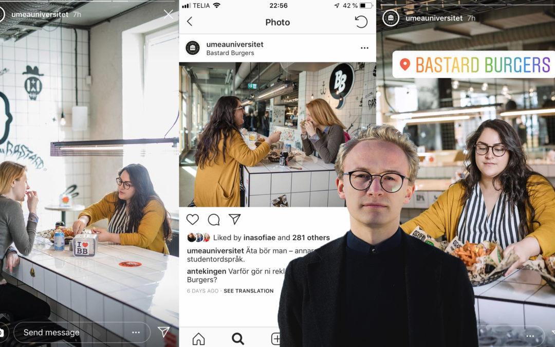 """Manne B. Wiklund: """"Att Umeå Universitet gör reklam för Bastard Burgers är töntigt"""""""