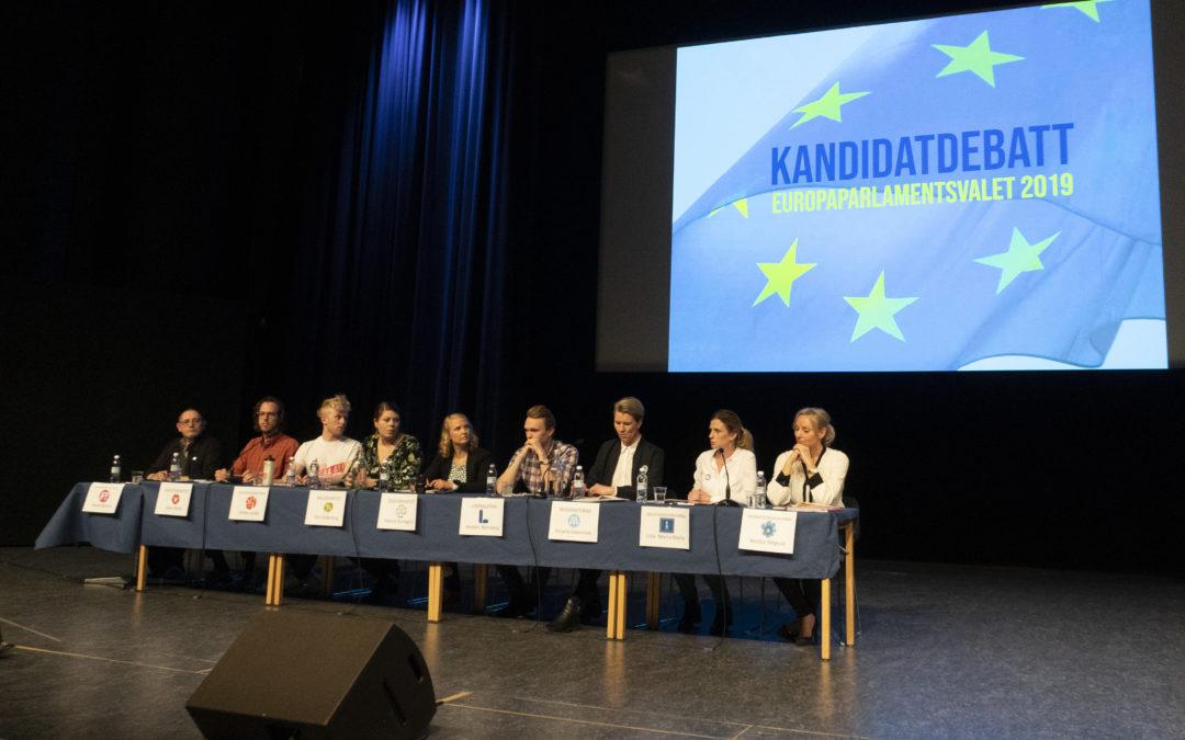 Stor kandidatdebatt i Aula Nordica inför EU-valet